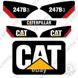 Caterpillar 247b-3 Decal Kit Skid Steer Équipement Décalcomanie