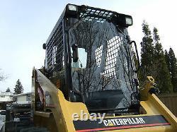 Caterpillar Cat 1/2 Porte Incassable+côtés! Cabine Lexan Polycarbonate Skid Steer