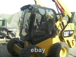 Caterpillar D Skid Steer Porte 1/2 Lexan Poly-carbonate. S'adapte À Tous Les Chats De La Série D