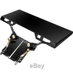 Chargeuse Compacte Rapide Tach Fixation Support De Plaque Et Adaptateur De Conversion Loquet Boîte 1/4