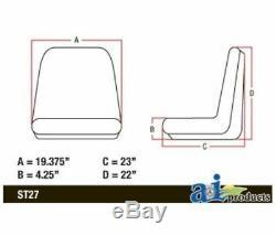 Conçu Pour Fit Case Ih Skidsteer / Construction / Tracteur Seat Spoiler