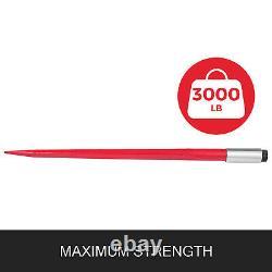 Deux 39 3000 Livres Hay Spears Nut Sleeve Bale Spike Fork Tine Paire Skidsteer