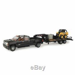 Ertl John Deere Big Farm 116 Échelle Chevy Truck Avec Skid Steer & Trailer