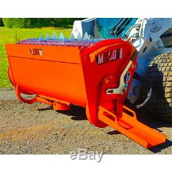 Eterra Bmx 250 Cement Mixer Attachment MIX & Verser Le Ciment Avec Votre Skid Steer