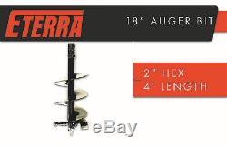 Eterra Marque Skid Steer Auger Bit 18 Largeur 2 Hex