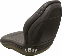 Gehl Skid Steer Noir Bucket Seat Convient 3410 4625sx 5640 6635 6640 Etc