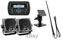 Jensen Am / Fm / Wb / Usb Stéréo Bluetooth Étanche, Haut-parleurs, 14 Antenne Skidsteer