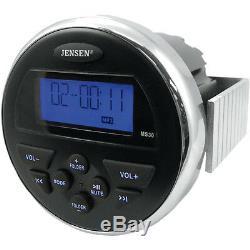 Jensen Ms30 Étanche 160w Radio Antenne Ipod Mp3 Usb Atv Utv Bateau Skid Steer