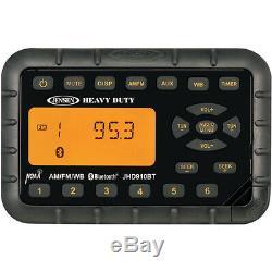 Jensen Weatherproof Atv Motorcycle Skidsteer Jhd910bt Bluetooth Radio + Haut-parleurs