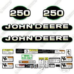 John Deere 250 Skid Steer Decal Kit Équipement Autocollants