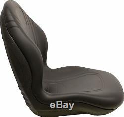 John Deere Mini Chargeuse Noir Bucket Seat 240 250 315 Convient 328d 332 7775 Etc