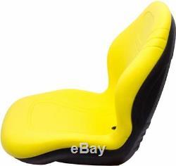 John Deere Skid Steer Seat Jaune Godet 240 250 315 Convient 328d 332 7775 Etc