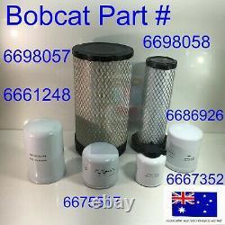 Kit De Service De Filtre Pour Bobcat S185 S205 T180 T190 V2607t Fuel Oil Hydraulique Air