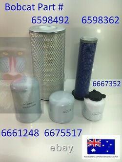 Kit Filtre Bobcat S130 S150 S160 S175 6598362 6598492 6675517 6667352 6661248