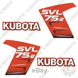 Kubota Svl 75-2 Stickers Skid Steer Remplacement Autocollants Kubota Svl75-2 Svl75