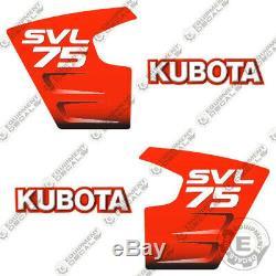 Kubota Svl 75 Stickers Compacts Autocollants De Remplacement Steer