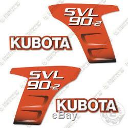 Kubota Svl 90-2 Decal Kit Skid Les Décalcomanies De Rechange Steer 7 Vinyl An (90 2)