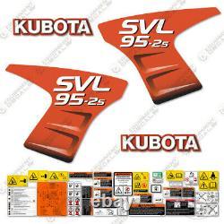 Kubota Svl 95-2s Decal Kit Skid Steer Décalcomanies De Remplacement 5-7 Année 3m Vinyle