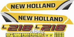 New Holland L218 Mini Chargeuse Decal / Adhésif / Autocollant Ensemble Complet