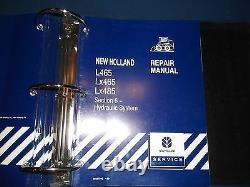 New Holland L465 Lx465 Lx485 Skid Steer Loader Service Repair Manual Book (en Français)
