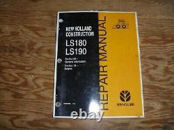 New Holland Ls180 Ls190 Mini Chargeuse Moteur Magasin Manuel De Réparation