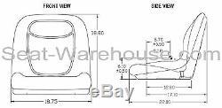 Noir Haut Siège Arrière Withslide Piste Kit Pour Ford New Holland Mini Chargeuse # Qg