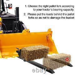 Pince Sur Palette Fourches Chargeur Bucket 4000lbs Capacité 43 Chaîne Tracteur Skidsteer