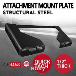 Plaque De Montage De Fixation Rapide De 1/2 Tach Tach 65 Lbs Bobcat Skid