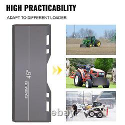 Plaque De Montage Vevor Universal Quick Attaching Skid Steer Pour Tracteur 5/16