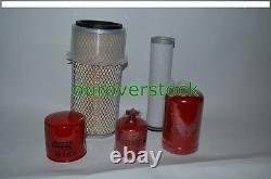 Pour Bobcat Filter Kit T140 T180 T190 Skid Steer Oil Fuel Diesel Air (2)