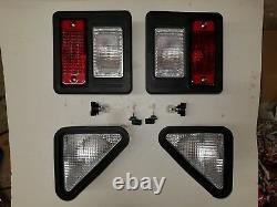 S250 Bobcat Skid Steer Extérieur Head Tail Light Kit C/w Ampoules