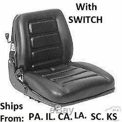 Seat Suspension Vinyle Avec Commutateur Mower Tracteur Skidsteer Livraison Gratuite