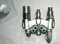 Stucchi Saturne Bloc Hydraulique Manifold Pour Bobcat Skid Steer Raccords De Visage Plat