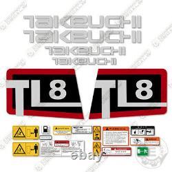 Takeuchi Tl 8 Skid Steer Decal Kit Equipment Décalcomanies Tl8 Tl-8