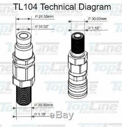 Tl104 3/4 Orfs Plat Visage 1/2 Rapide Hydraulique Connect Coupler Bulkhead Mini Chargeur