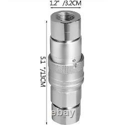 Vevor 12 Sets De 1/2 Npt Face Plate Coupleur Hydraulique D'attelage Skid Steer Bobcat