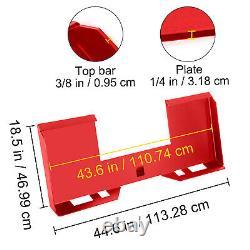 Vevor 1/4 Adaptateur De Plaque De Support De Stèle À Skis Chargeur Rapide Tach Pièce Jointe Rouge